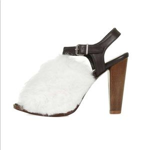 New Topshop Hilda Shearling Sandals by Unique
